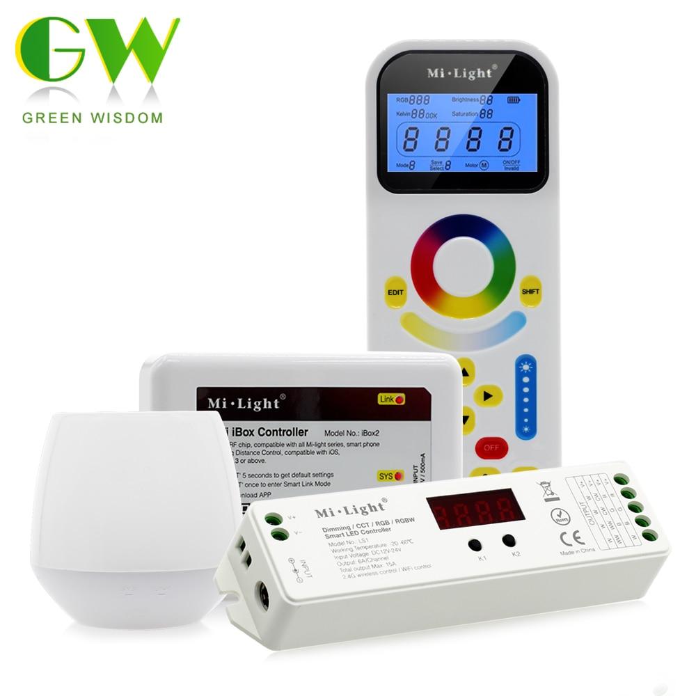 Mi. lumière 4 DANS 1 Pleine Couleur LED Controlle Compatible avec une Seule Couleur/Couleur Température/RGB/RGBW sortie mode.