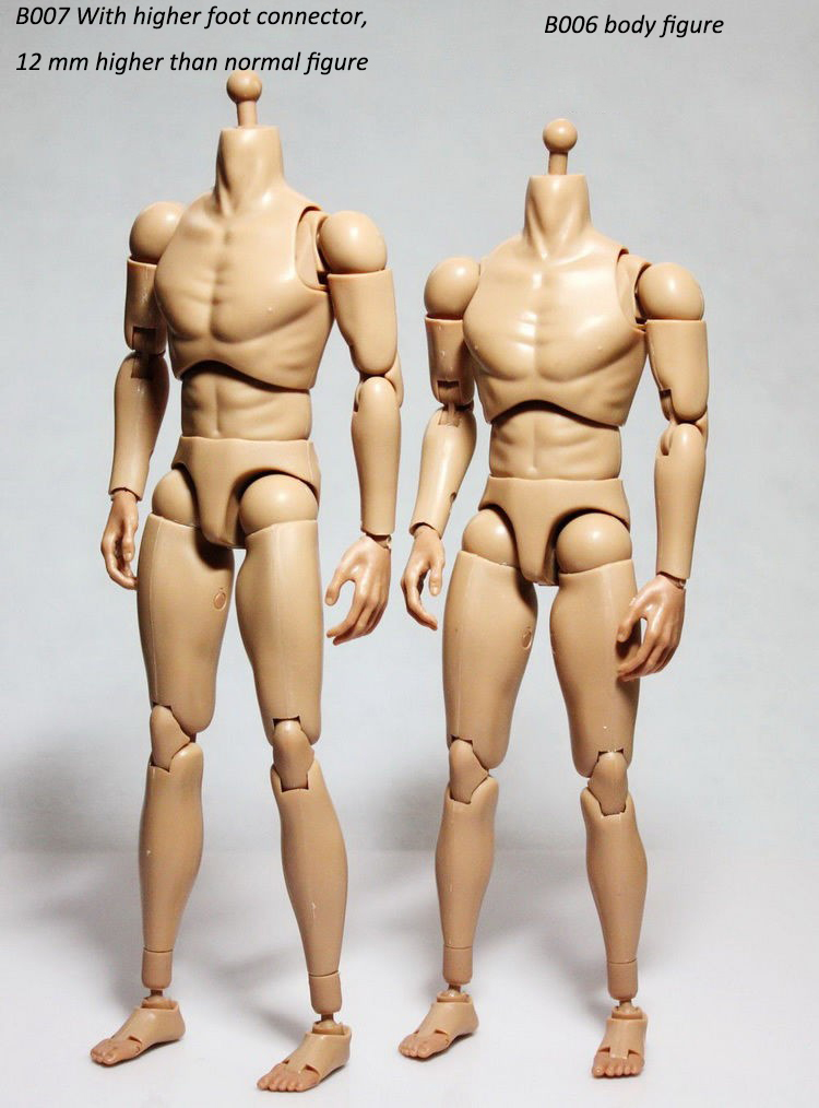 1 6 Scale B006 B007 Military Male Narrow Shoulders Nude Action Figure Body Skin Color For 12 quot Action Figure Toys Accessories in Action amp Toy Figures from Toys amp Hobbies