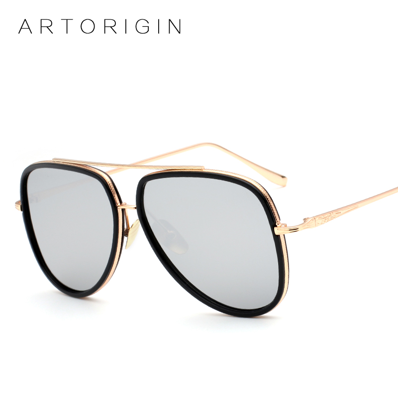 1a9a6498b21 ARTORIGIN Vintage Women Sunglasses Pilot Oversize Luxury Craft Metal Frame  Flat Panel Mirror Sun Glasses Color Shades -in Sunglasses from Apparel ...