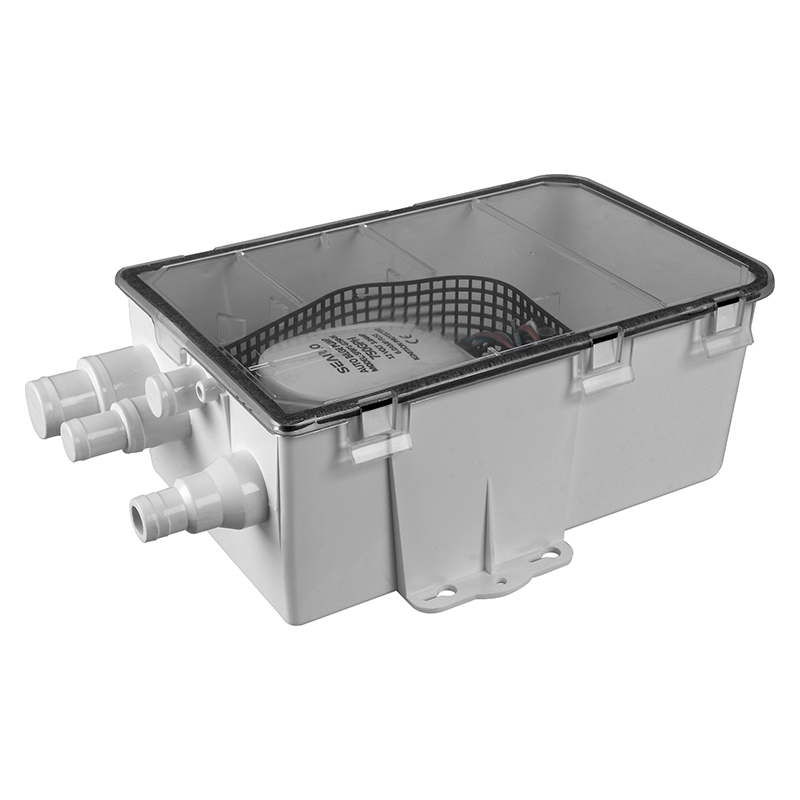 SEAFLO 24V 750GPH Shower Sump Pump Auto Drain Box Multi Inlet Yacht Boat RV Caravan Compare To Attwood