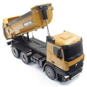 Image 3 - Volquetas de aleación de 10 canales para niños, camión de ingeniería a Control remoto, juguetes HUINA 1573