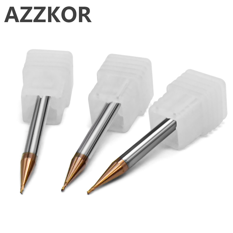 Milling Cutter Alloy Coating Tungsten Steel Tool Cnc Maching Small Diameter Endmill Top Face Cutter Kit Milling Machine Tools