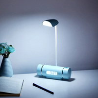 LED Desk Lamp with Alarm Clock Adjustable Eye caring table Light night lights for Kids Families Gift