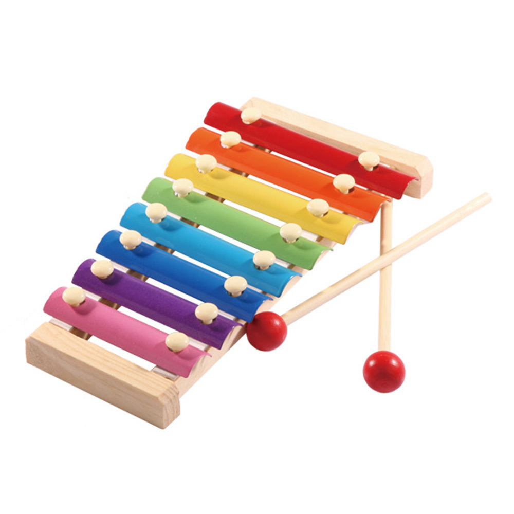 Kids Wooden Music Instrument Montessori Children Educational Early Wooden Xylophone Toys Hand Knocking Piano Gift For Child J11