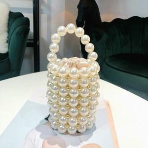 Image 5 - האופנה פרל חרוזים נשים של תיקי יוקרה בעבודת יד חרוזים Crossbody שקיות לנשים אלגנטי מסיבת ערב שקיות גבירותיי ארנקי