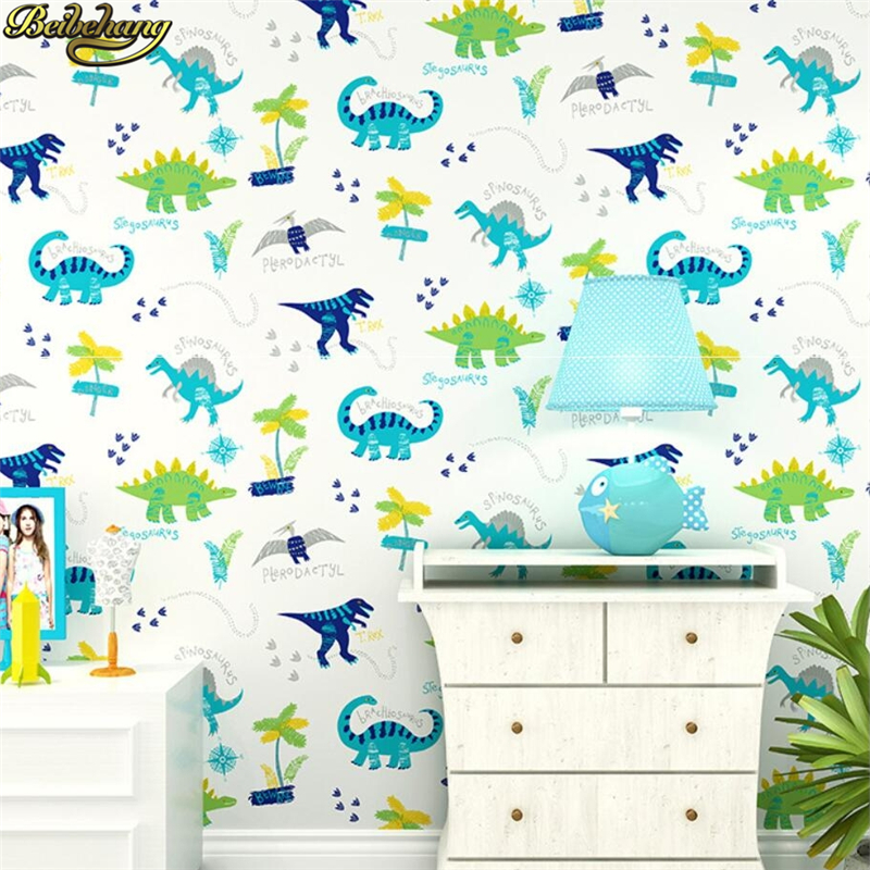 beibehang papel de parede 3d para Cartoon Monster Dinosaur Anime wallpaper roll background living room wall paper for Kids Room beibehang beautiful rose sea living room 3d flooring tiles papel de parede para quarto photo wall mural wallpaper roll walls 3d