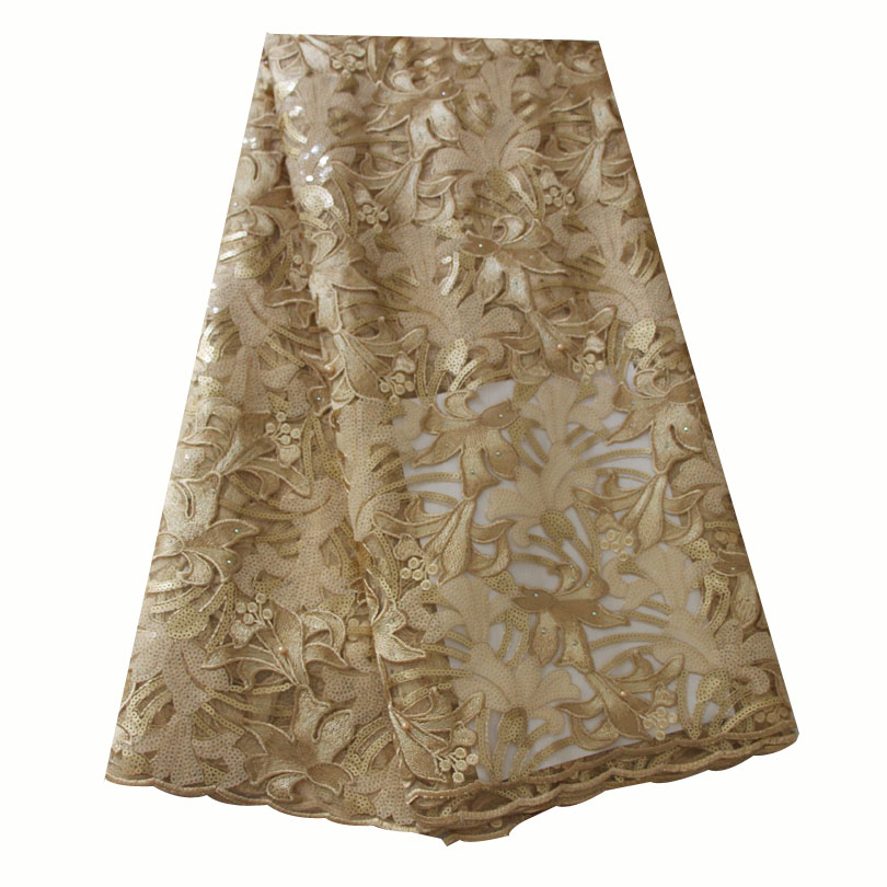 Ourwin African Lace Fabric Gold African Lace Fabric 2019 High Quality Lace Seqins Stones Beads Latest African Laces FabricsOurwin African Lace Fabric Gold African Lace Fabric 2019 High Quality Lace Seqins Stones Beads Latest African Laces Fabrics