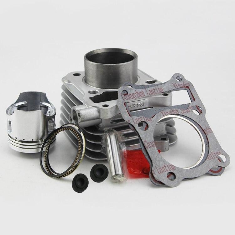 Livraison gratuite 57mm Cylindre Piston Ensemble Joint Tous Les Ensembles Pour Suzuki GS125 GN125 HJ125-A 125CC GS GN 125 Moto