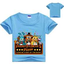 New Five Nights at T-Shirt FNAF Children T shirts for kids Boys Girls Cartoon Tops Tee Clothes five night at shirt(China)