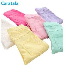 Caratala/8 цветов, детские штаны хорошего качества, штаны для девочек, однотонные повседневные Леггинсы ярких цветов для девочек Леггинсы Легин...