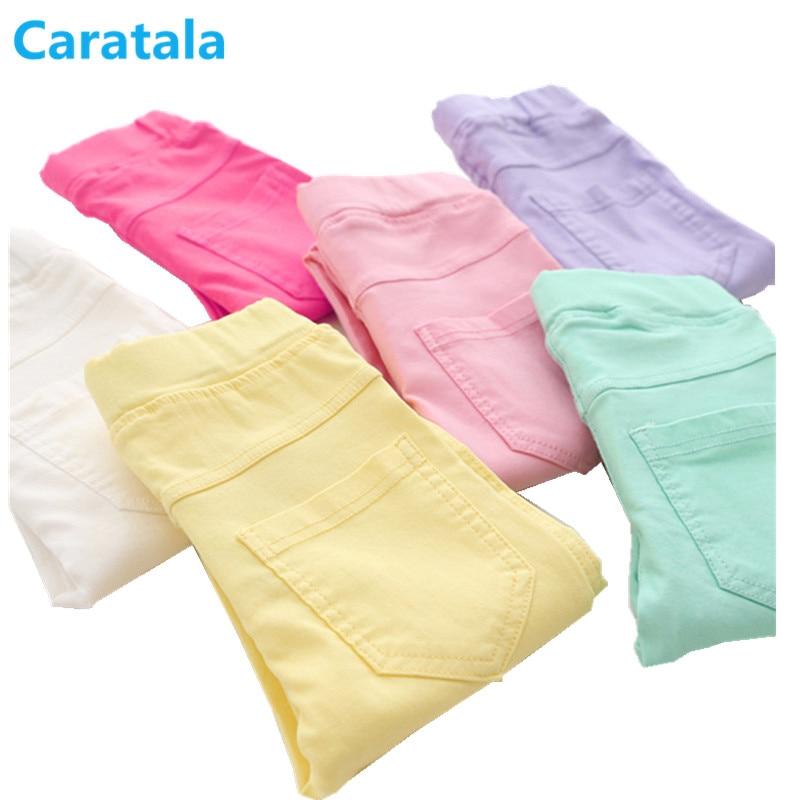 Caratala 8 Colori Di Buona Qualità Per Bambini Pantaloni Delle Ragazze Dei Pantaloni Di Colore Della Caramella Solido Causale Per Le Ragazze Leggings Materiali Di Alta Qualità Al 100%