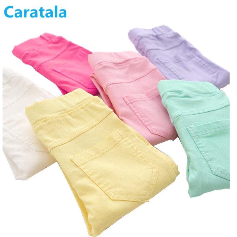 Caratala 8 farben Gute Qualität Kinder Hosen Mädchen Hosen Feste Candy Farbe Kausal Für Mädchen Leggings