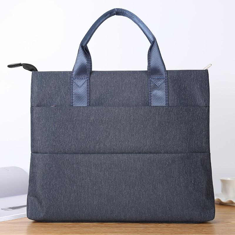 Документ Для мужчин т мешок Портативный A4 многослойная холщовые с застежкой молнией для наполнения продукта высокой емкости офис Для мужчин Для женщин Бизнес портфель папка