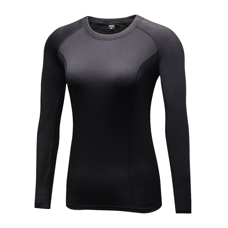 Women Compression Plus Velvet Long Sleeve T Shirts Casual