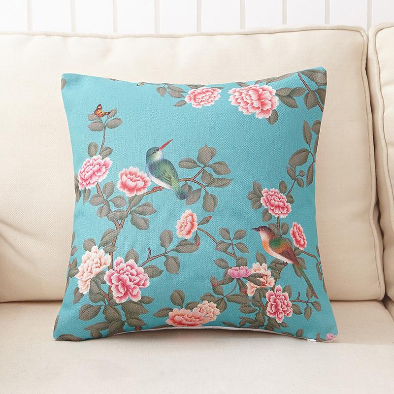 Weihnachten Dekorative Kissen Sofa Stuhl Blume Gedruckt Leinen Baumwolle Kissenbezge Fr Wohnzimmer Dekor P16