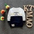 Primavera 2016 nuevo patrón Águila de color guapo estrella accesorio de manga larga bebé niños Camiseta ropa A051