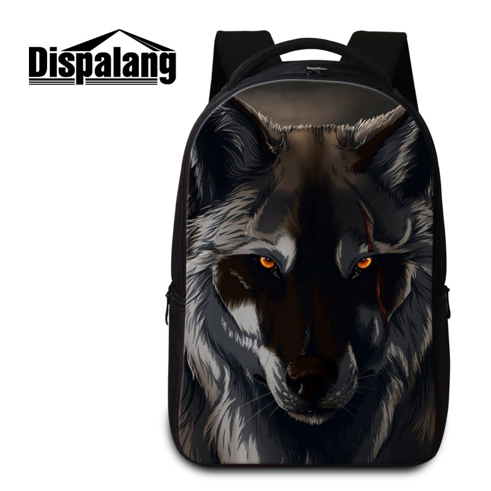 Dispalang sac à dos pour ordinateur portable Comics loup imprimer sac à dos quotidien pour hommes femmes sacs d'école pour adolescents cahier sac à dos Mochila Feminina