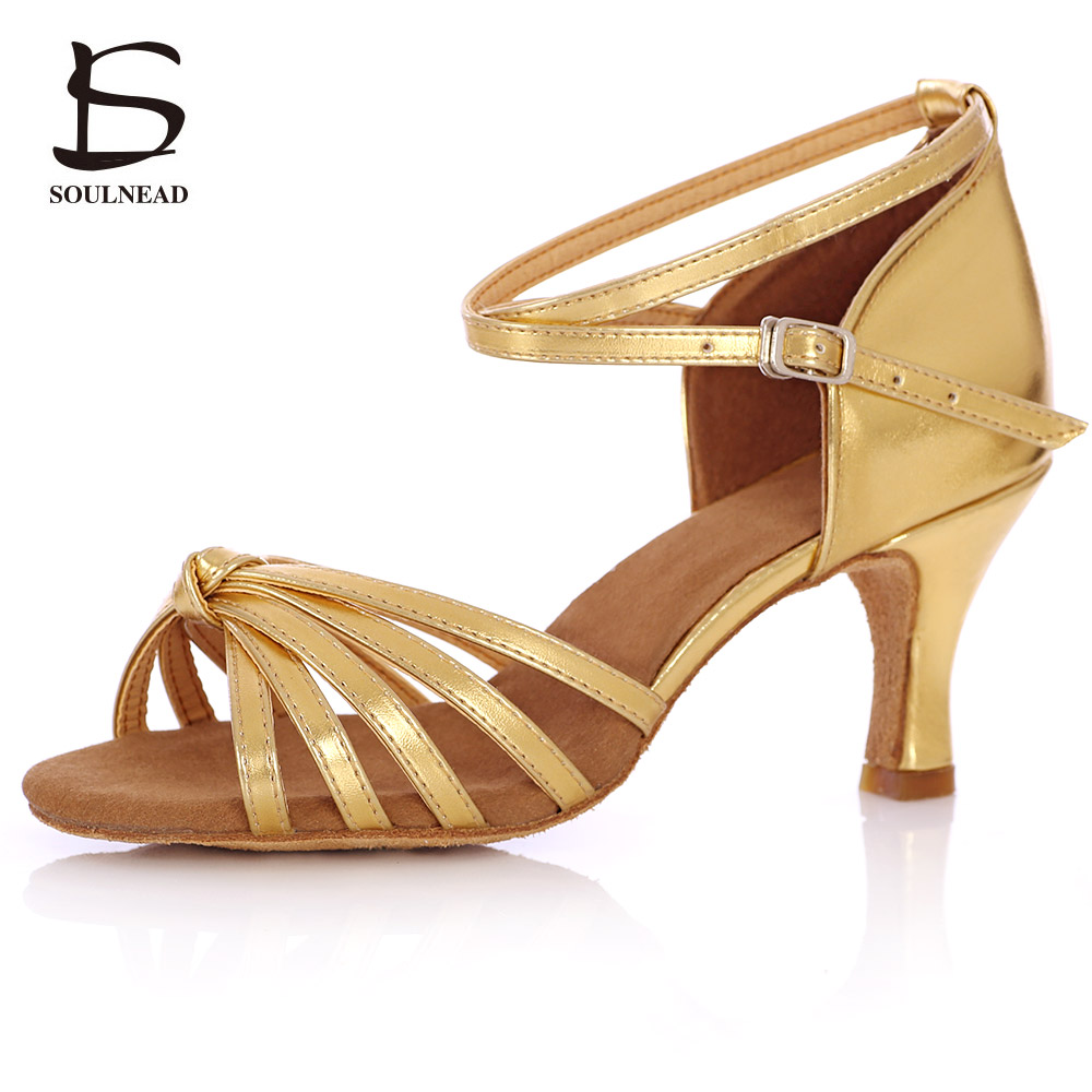 Latin Dancing Shoes For Women Girls Professional Adults Tango/Salsa Ballroom Party Dance Shoes Soft Sole Shoes 7cm Height Heels