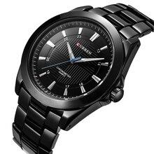 CURREN Marque De Luxe Célèbre d'affaires hommes montres en acier plein quartz montre hommes étanche mâle horloge Relogio Masculino 2017