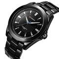 Curren marca de luxo famosos homens de negócios relógios completa de aço relógio de quartzo dos homens à prova d' água masculino relógio relogio masculino 2017