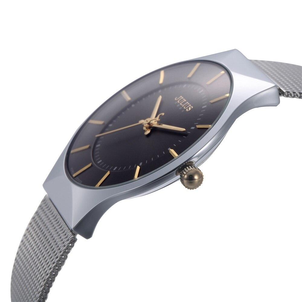 2016 Luxury Brand Julius Uomini Orologi Orologio Analogico Al Quarzo di Modo Ultra Sottile Affari Impermeabile Sport orologio da Polso Uomo Casual