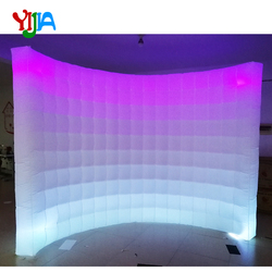 Telón de fondo para fotomatón de 10 pies con cambio de Color Multi LED, pared inflable con tiras LED, venta de pared superior e inferior