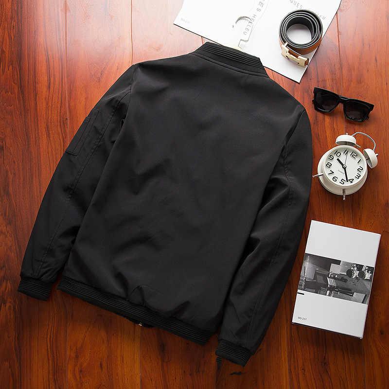 NIANJEEP новая весенняя мужская куртка-бомбер на молнии мужская черная хлопковая Повседневная Уличная Хип-хоп приталенная куртка-пилот Мужская одежда 4xl
