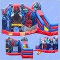 Magia Homem Aranha Bouncy Castelo Inflável, Casa do Salto Gaint inflável, Moonwalk Combo Slide para locação Comercial