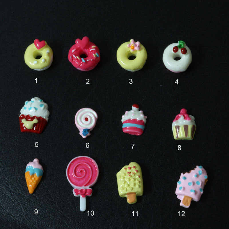 Cute Resin Nail Art Cute Decoration Cake&Cupcake&Donut&Strawberry