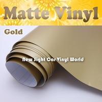 Matte Gold Vinyl Wrap Gold Matt Vinyl Film Car Wrap Air Free Release For Vehicle Wraps