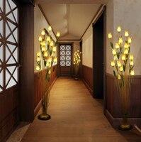 g4 led Nordic Copper Iron Glass Flowers LED Lamp LED Light LED Floor Lamp Floor Light For Foyer Dinning Room Bedroom Store