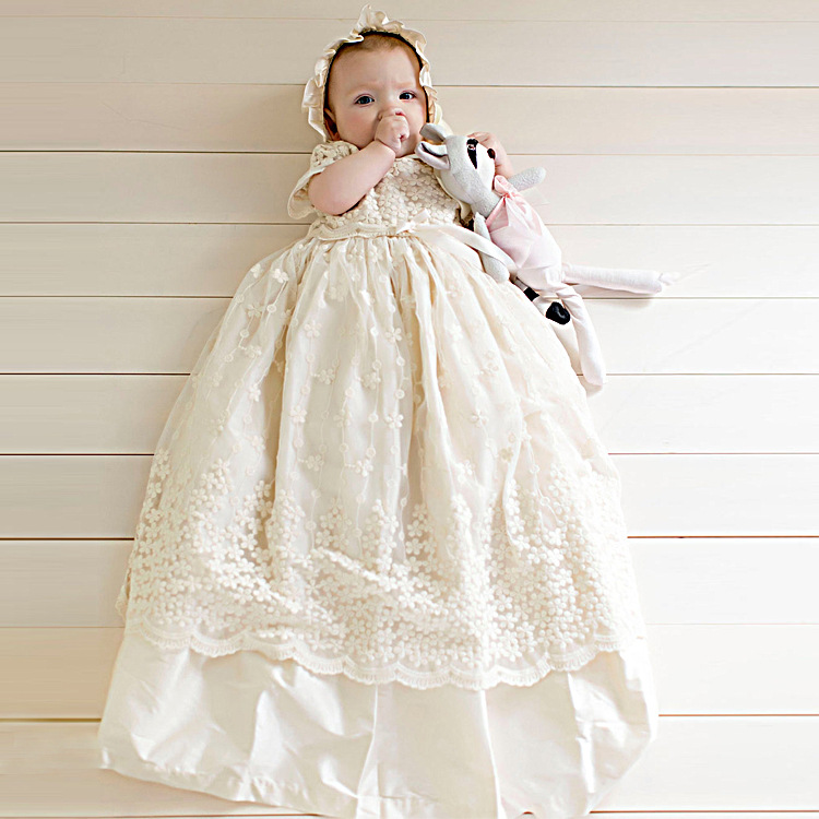 First Birthday Girl Party Girl Baptism Dresses Vintage