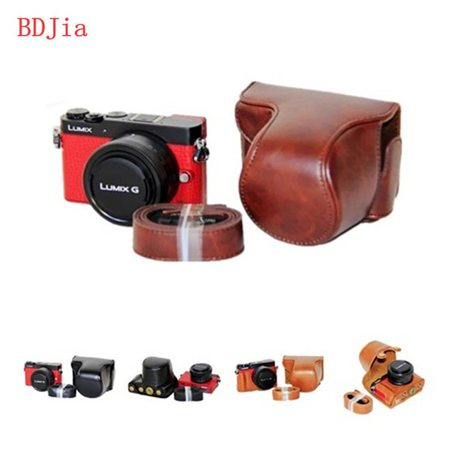 New High Quality Camera Leather Case Bag For Panasonic lumix GM5 GM2 GM1S GM1 digital camera with 12-23mm lens,Free shipping