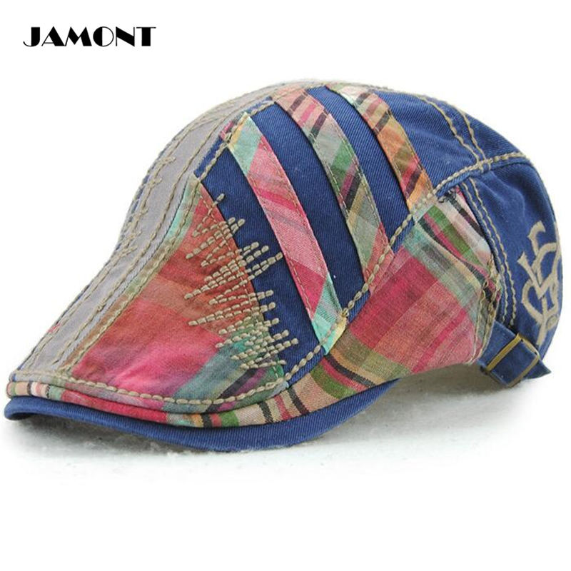 JAMONT Men Retro Golf Caps Hat Hight Quality Cotton Stitching Stitches  Adjustable Outdoor Golf Hats For Male 5 Colors-in Golf Caps from Sports ... 90a0489d24c