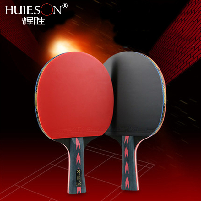 Huieson 2Pcs Upgraded 5 Star Carbon Table Tennis Racket Set ...