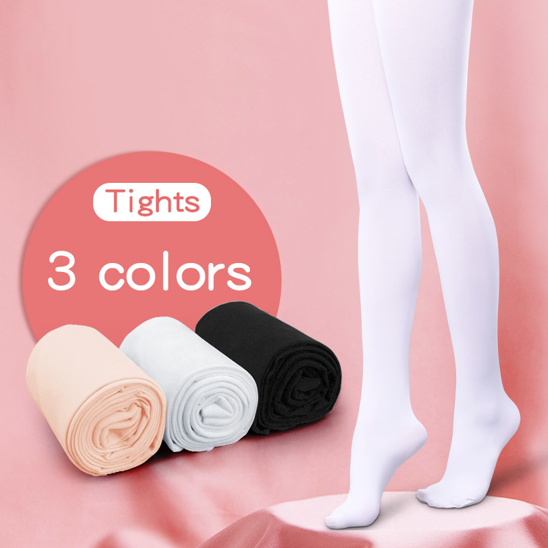 Children Girls Ballet Dance Tights Kids Adult Nylon Leggings Gymnastics Dance Ballet Pantyhose 80D 3 Pairs(China)