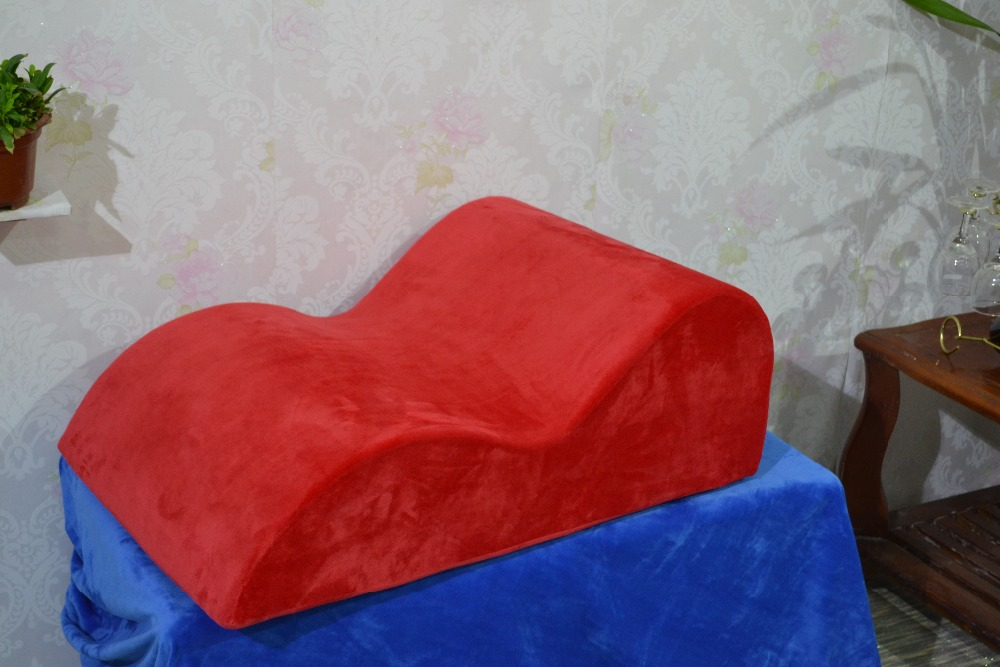 2016 New Sale Sex Sofa Apricot S Shape Sex Bed Love Chair Wedge Adult Pillows Couples Pad Sofa Furniture For Erotic Toys Shop