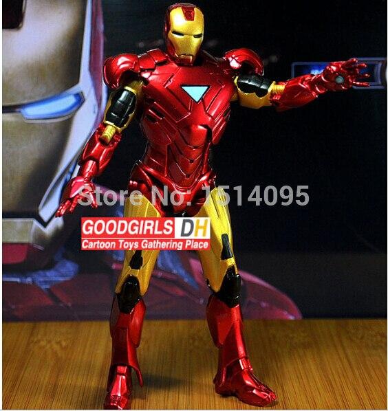 20 centímetros Marvel Homem De Ferro Figura de Ação de Super-heróis Homem De Ferro Tonny Mark 42 3 IM001 Figura PVC Brinquedo