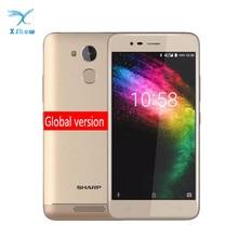 "Sharp R1 MT6737 Quad Core 3GB RAM 32GB ROM Mobiele Telefoon 5.2 ""1280x720 P 16:9 verhouding Smartphone Batterij 4000mAh Android Mobiel"