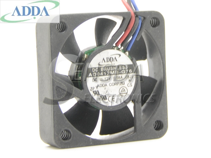 Wholesale ADDA AD0412MB-G76 4010 4cm 40mm DC12V  0.08A ultra silent fan uble ball bearing high quality new ym1204pfb3 4010 4cm 12v 0 04a ultra quiet double ball bearing fan for first union 40 40 10mm