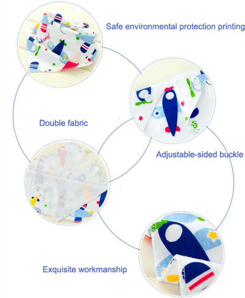 Baby Bibs Waterproof Triangle Cotton Cartoon Child Bibs Dribble Bibs Newborn Absorbent Cloth 20%Off