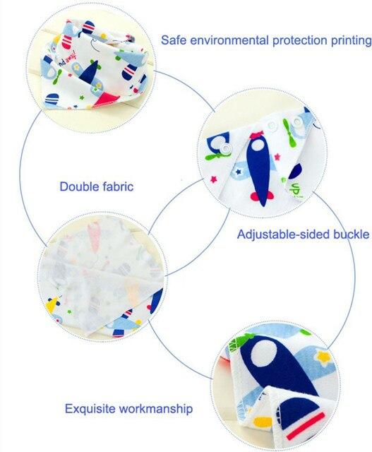 Śliniaki dla dzieci wodoodporne trójkątne bawełniane śliniaki dla dzieci śliniaki Dribble noworodka chłonne tkaniny 20% zniżki