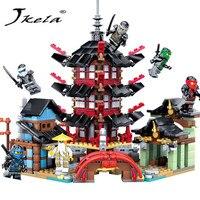 Jkela 2017 Ninja Temple 737 Pcs DIY Building Block Sets Educational Toys For Children Compatible