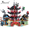 Jkela 2017 Ninja Temple 737 Pcs DIY Building Block Sets Educational Toys For Children Compatible