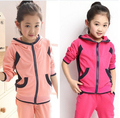 Children's Clothing Sets Kids Korean Clothes Sets Child Cartoon Sports Suits Big Girls Tops +Pants 2 Suit Kid Cotton Clothes Set