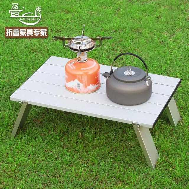 Aluminum Portable Outdoor Folding Table Folding Table Mini Notebook  Aluminum Picnic Tables Small Table Second Generation