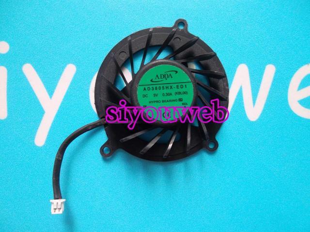 Frete grátis, new genuine para hp pavilion dv3 amd cpu laptop cooling fan dc5v 0.30a