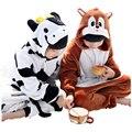Cow Onesie Pajamas For Kid Sleepsuit Anime Cosplay Costumes milk cow Jumpsuit Pyjamas Flannel Animal Children Sleepwear Homewear