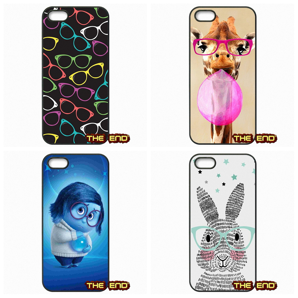 Hipster Glasses Turquoise print pattern Phone Cases Covers For Samsung Galaxy A3 A5 A7 A8 A9 Pro J1 J2 J3 J5 J7 2015 2016