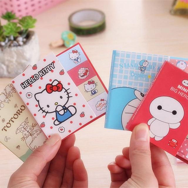 Unid 1 PC Anime Bloc de notas Post it papel pegatina página banderas oficina escolar suministros de papelería coreana cuaderno marcapáginas Decoración